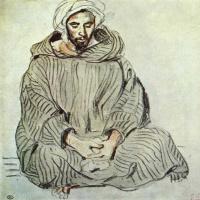 Эжен Делакруа. Сидящий араб. Танжер