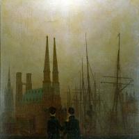 Каспар Давид Фридрих. Ночь в гавани