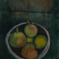 Пауль Клее. Натюрморт с четырьмя яблоками
