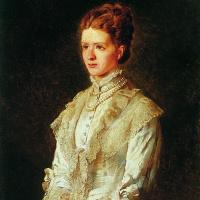 Константин Егорович Маковский. Портрет девушки в белом платье