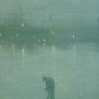 Джеймс Эббот Макнейл Уистлер. Ноктюрн в синем и золотом. Старый мост в Баттерси. Фрагмент