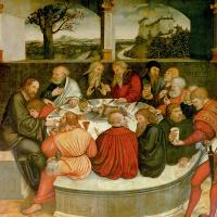 Тайная вечеря. Фрагмент центральной части триптиха