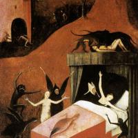 Иероним Босх. Смерть блудницы