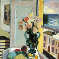 Анри Матисс. Натюрморт с цветами и виноградом