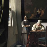 Ян Вермеер. Дама, пишущая письмо, и её служанка