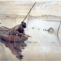 Карл Ларссон. Рыбная ловля