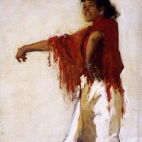 Джон Сингер Сарджент. Испанская цыганка-танцовщица