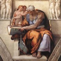 Микеланджело Буонарроти. Кумейская сивилла. Фрагмент росписи потолка Сикстинской капеллы