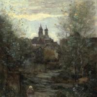 Камиль Коро. Семюр. Дорога к церкви