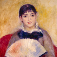 Pierre Auguste Renoir. Girl with a fan