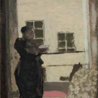Jean Edouard Vuillard. Madame Vuillard at the window