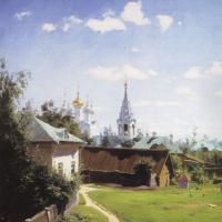 Московский дворик. Вариант картины для И.С. Тургенева