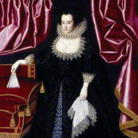 William Larkin. Portrait of Lady Anne Sequel, Lady Edward Seymour, pose Lady Edward Lewis