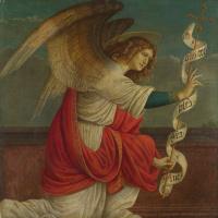 Благовещение, Архангел Гавриил (левая панель)