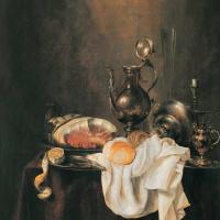 Геррит Виллемс Хеда. Ветчина и серебряная посуда