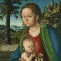 Лукас Кранах Старший. Мадонна с младенцем и виноградной гроздью