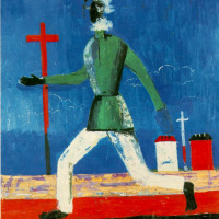 Kazimir Malevich. Running man