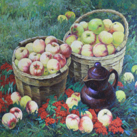 Apples with Rowan. 2015