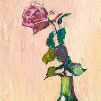 Куно Амье. Роза в зеленой вазе