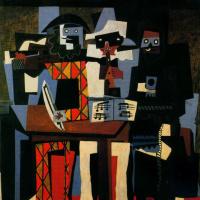 Пабло Пикассо. Три музыканта
