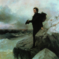 Ivan Aivazovsky. The Pushkin farewell to the sea (in collaboration with Ilya Repin)