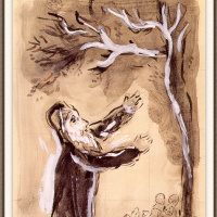 Марк Захарович Шагал. Молитва Иисуса Навина