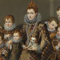 Portrait of Bianca degli Utili Maselli with her six children