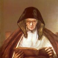 Рембрандт Харменс ван Рейн. Читающая пожилая женщина
