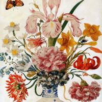 Цветочный натюрморт в китайской вазе
