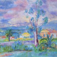 Анри Лебаск. Пейзаж в Провансе