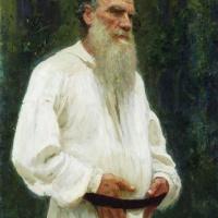 Илья Ефимович Репин. Лев Николаевич Толстой босой