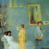 James Abbot McNeill Whistler. Whistler in his Studio