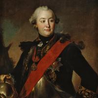 Портрет графа Г.Г. Орлова в латах