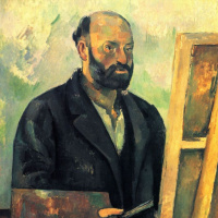 Paul Cezanne. Self-portrait with palette