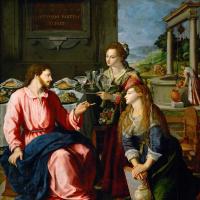 Алессандро Аллори. Иисус у Марии и Марфы