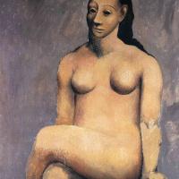 Пабло Пикассо. Сидящая обнаженная со скрещенными ногами