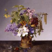 Иоганн Вильгельм Прейер. Букет садовых цветов. 1831