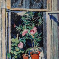 Olga Vladimirovna Rozanova. The flowers on the window