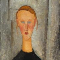 Амедео Модильяни. Портрет девушки с голубыми глазами