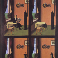Rene Magritte. The man with the newspaper