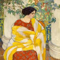Елена Андреевна Киселева. На балконе