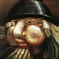Джузеппе Арчимбольдо. Садовник (Натюрморт с луком и овощами)