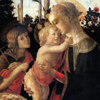 Сандро Боттичелли. Мадонна с младенцем и Святым Иоанном Крестителем