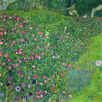A garden in Italy