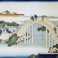 Кацусика Хокусай. Мост у храма Камэйдо Тэндзин