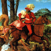 Hans Baldung. Knight, death and the maiden