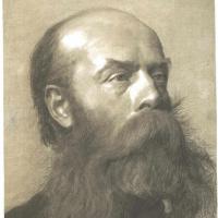 Густав Климт. Портрет мужчины с бородой в профиль