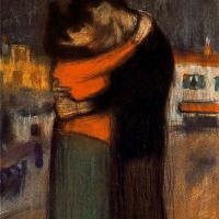 Пабло Пикассо. Влюбленные на улице
