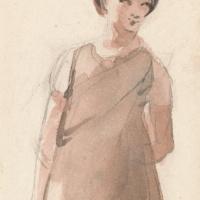 Джон Констебл. Портрет крестьянской девушки