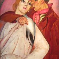 Борис Дмитриевич Григорьев. Пара. Жиган и проститутка.  1917